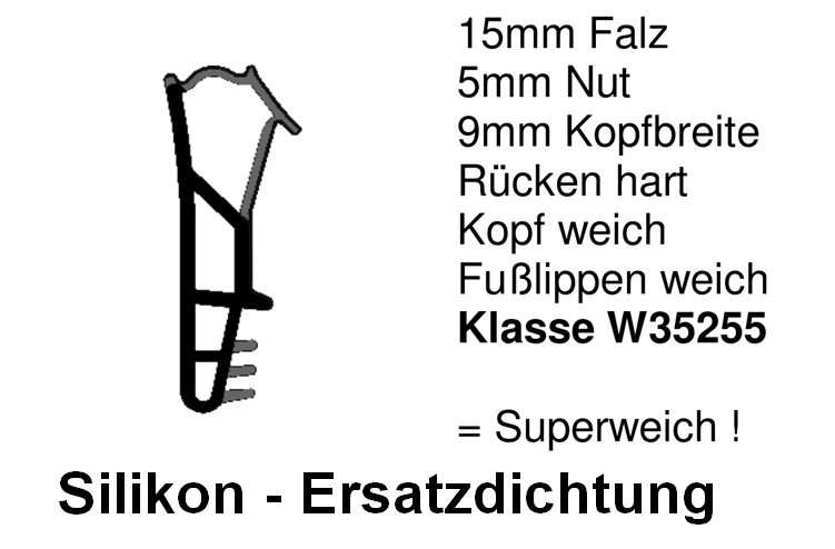 Holzfensterdichtung  weich HO - FS - 0155
