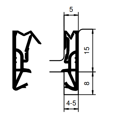 Holzfensterdichtung H - 15 - Silikon