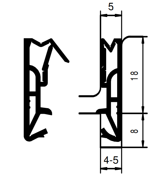 Holzfensterdichtung H - 18 - Silikon