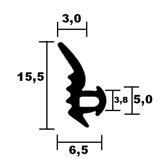 Fensterdichtungen Roplasto 02 - HR 6501